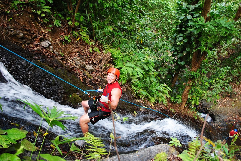 Canyoneering and Rappelling Jaco Beach