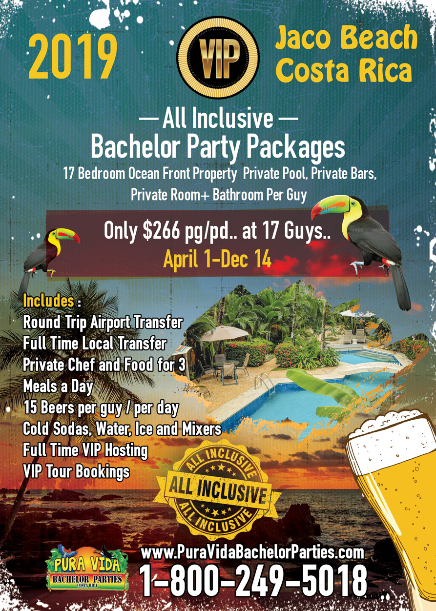 All Inclusive Bachelor Party Package - 2019 - Jaco Beach..