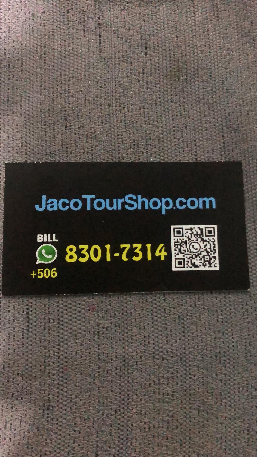 Contact Information for JacoTourShop.com