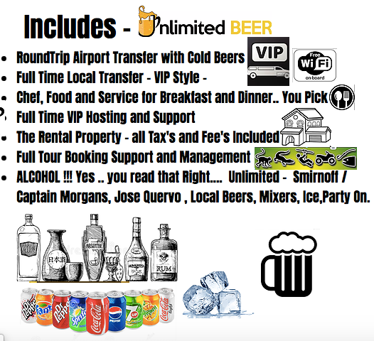 All Inclusive Packages in Jaco Beach VIP Services