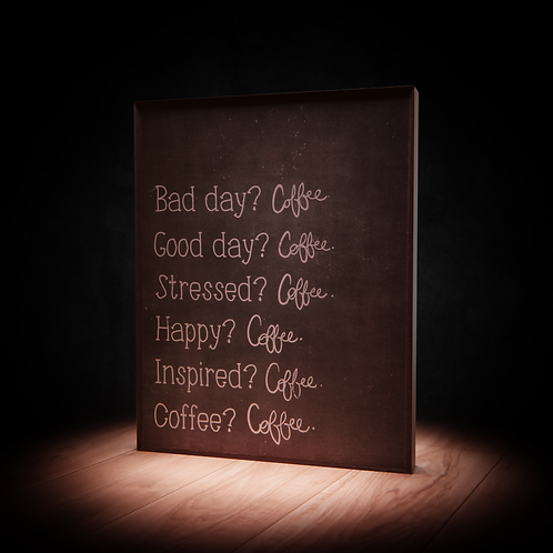 Bad Day Coffee Good Day Coffee Wood 3D Asset
