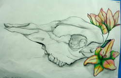 Leilani Minter Cow Skull with Flowers fi
