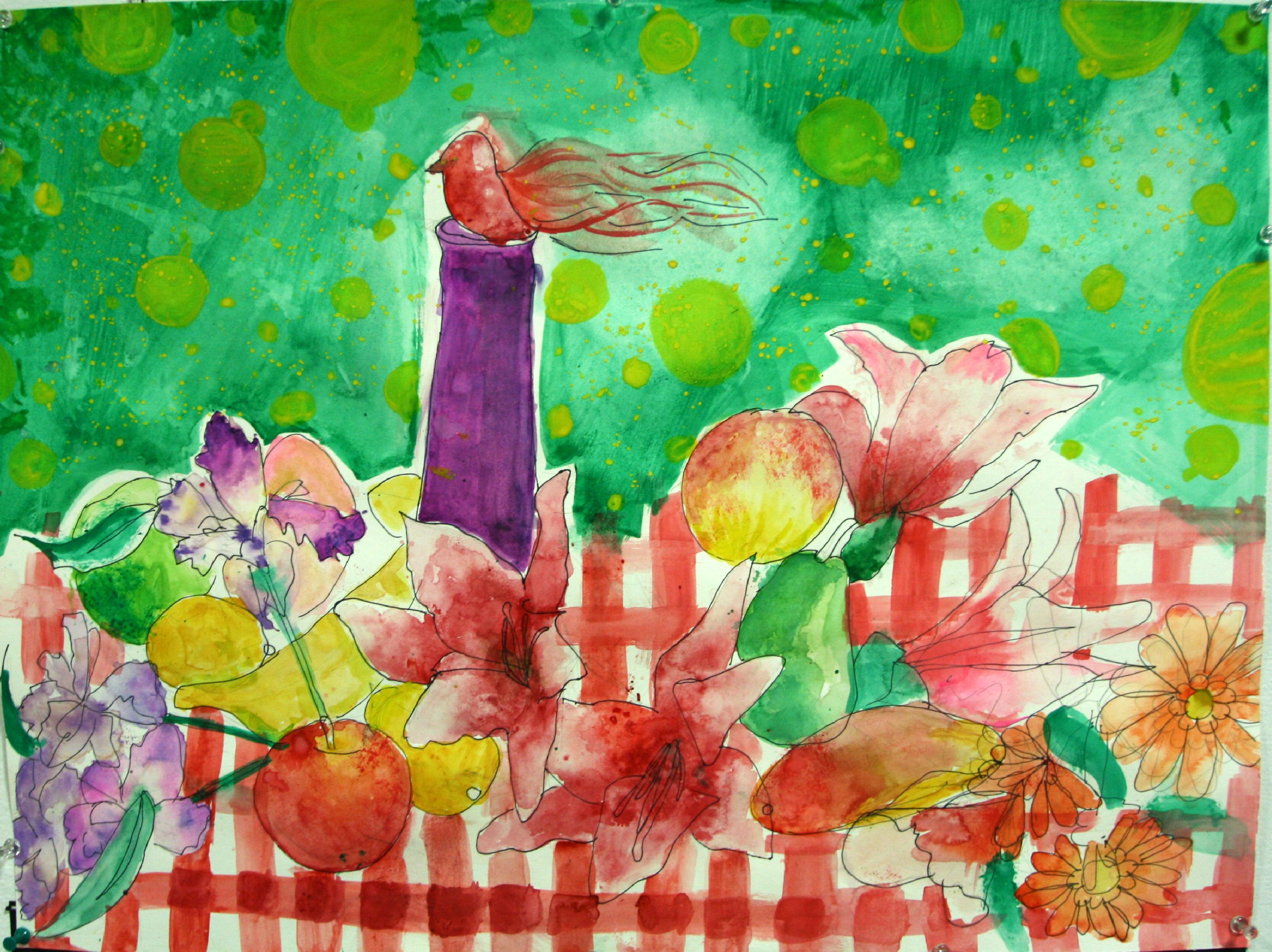 Germany Gonzalez Fruits Flowers and Bird