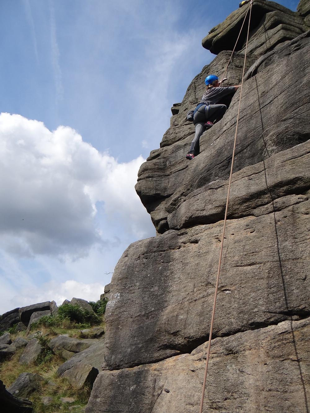 Come rock climbing in the Peak