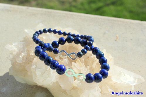 Bracelet duo pour elle et lui, Bracelet Lapis Lazuli, Pierre de sagesse