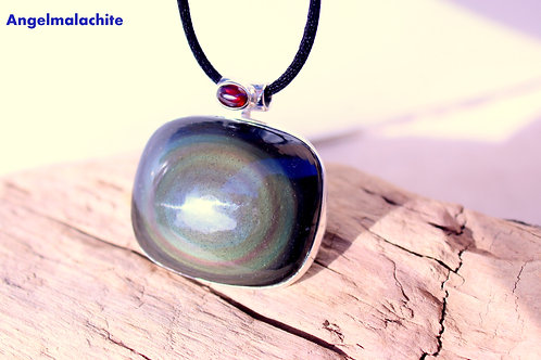 collier obsidienne, obsidienne œil céleste, Protection, Bouclier protection