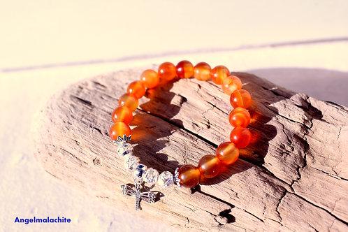 Bracelet enfant, bracelet Cornaline, pierre énergétique, protecteur, cornaline