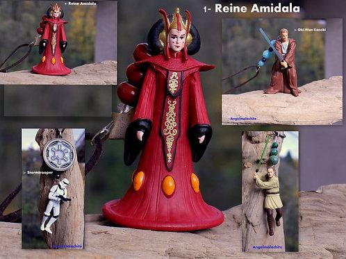 Bijoux rétroviseur, STAR WARS, Amidala, Obi Wan Kenobi, Quin Gon, bijoux voiture