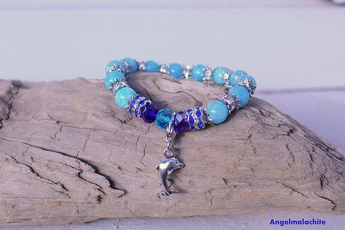 Bracelet enfant, bracelet Aigue marine, pierre Apaisante, protecteur