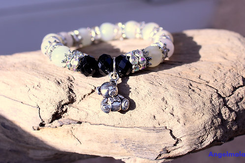 Bracelet enfant, bracelet Pierre de Lune, Bracelet fille, anti stress, moonstone