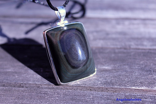 collier obsidienne, obsidienne œil céleste, Protection, Bouclier protection