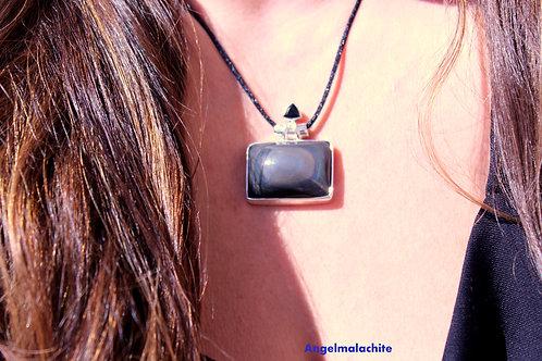 collier obsidienne, obsidienne œil céleste, Protection, Bouclier protecteur