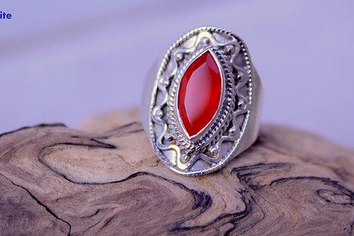 Bague femme, Bague Cornaline, pierre de protection, énergie, vitalité