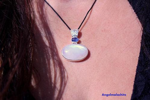 Collier femme, collier pierre de lune, pierre de lune, anti stress
