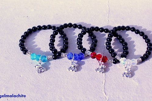 Bracelet enfant, bracelet Tourmaline, Garçon/fille, pierre protecteur