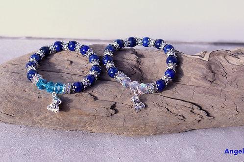 Bracelet enfant, bracelet Lapis Lazuli, Garçon/fille, créativité, Lapis lazuli