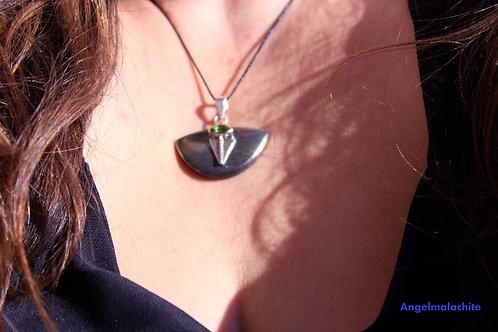 Collier femme, collier magnétite, magnétite pyrite, Protection, ancrage