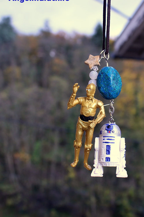 Bijoux rétroviseur, STAR WARS, R2 D2, C 3PO, bijoux voiture, décoration