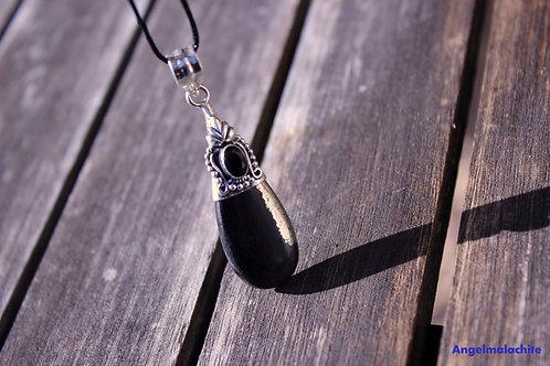 Collier femme, collier magnétite, magnétite pyrite, Protection, ancrage, onyx