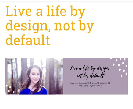 Life by Design, Not by Default Virtual Summit Promo