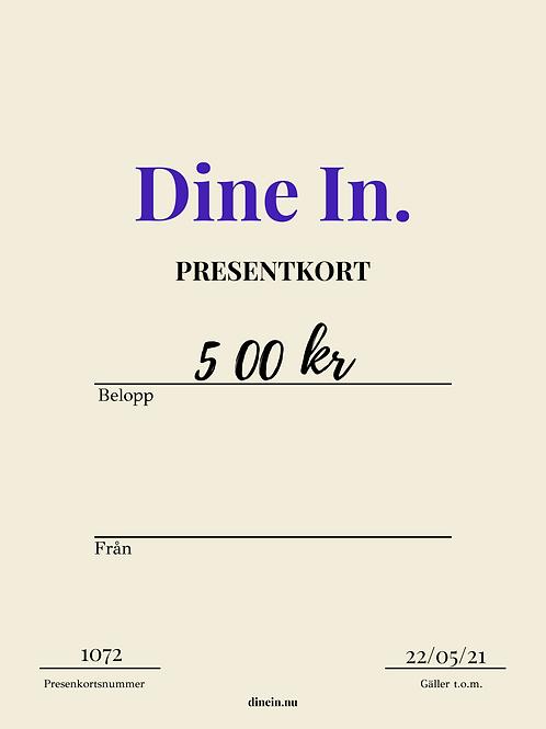 Presentkort 500 kronor