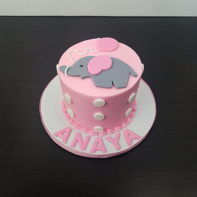 Cute Elephant Balloon Smash Cake.jpg