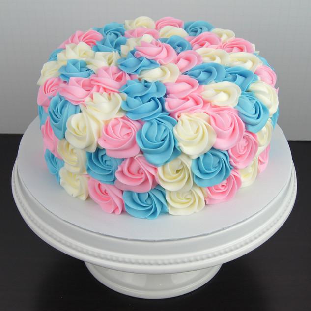 Gender Reveal Rosette Cake.JPG