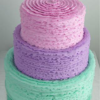 Buttercream Ruffle Tiered Cake