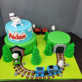 Thomas The Train Scenic Cake