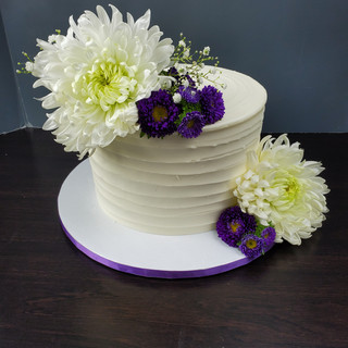 White & Purple Mocha Cake