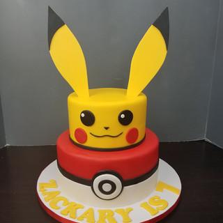 Pikachu & Pokeball Tiered Cake.jpg