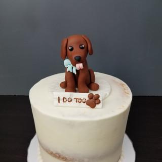 Labrador Love Semi-Naked Cake