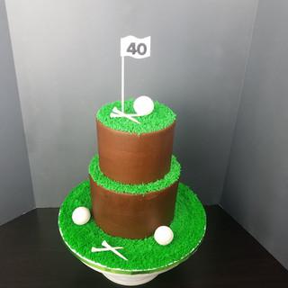 Golf Lovers Chocolate Cake