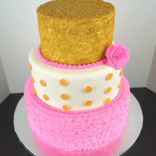 Pink & Gold Sparkle
