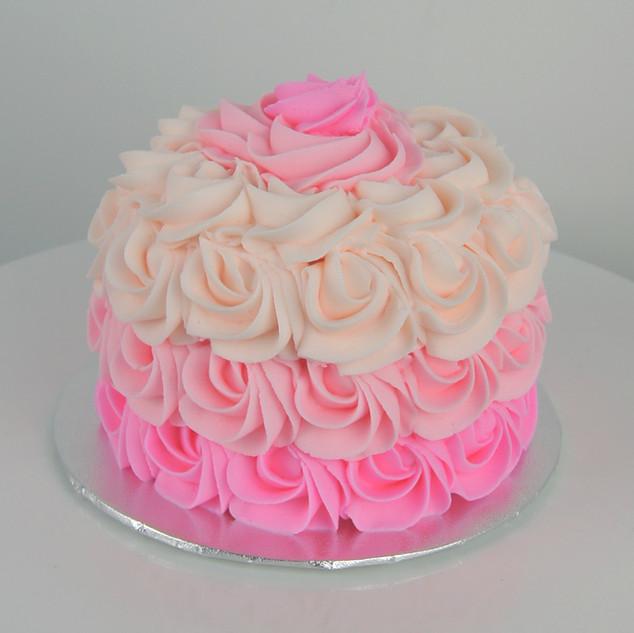 Pink Ombre Rosette Smash Cake.jpg