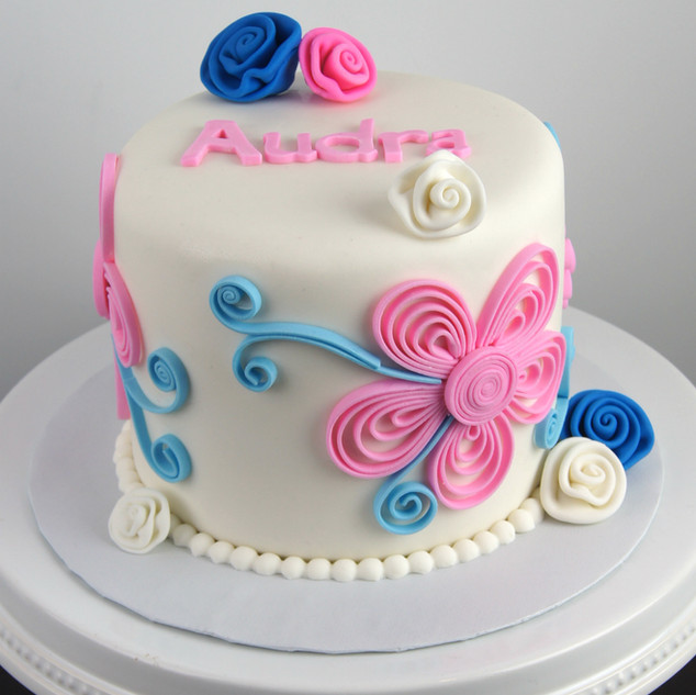 Gender Reveal Quilling Cake