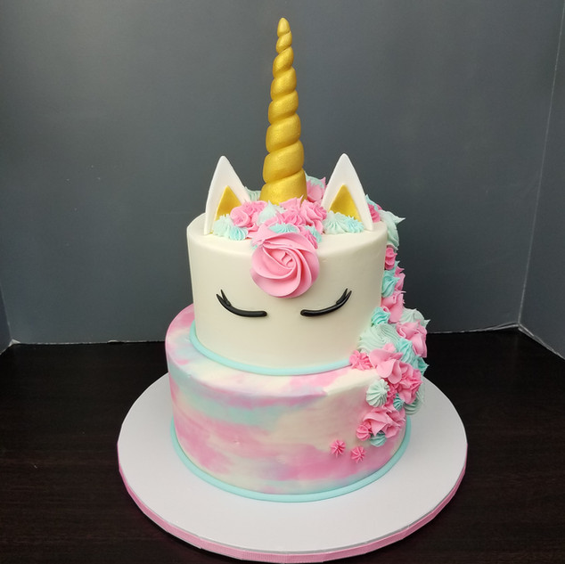 Pink & Blue Unicorn Tiered Cake.jpg