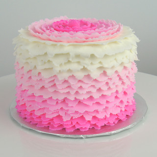Pink Ombre Ruffle Smash Cake.JPG