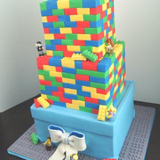 Large Lego Gift Cake