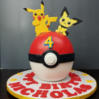 Pichu & Pikachu Pokeball Cake.jpg