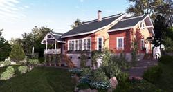 Дом из бруса в классическом стиле