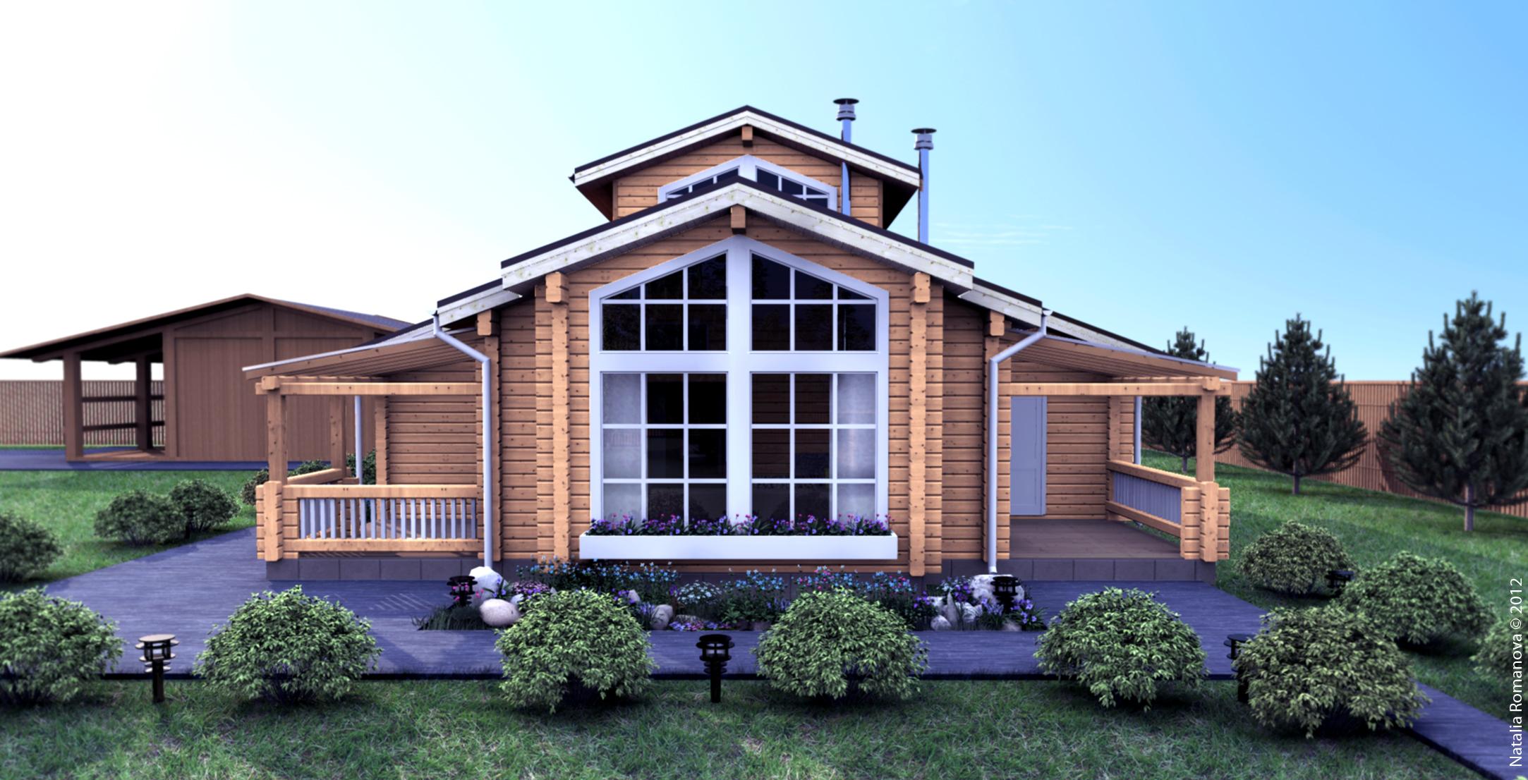 проект дома профилированный брус