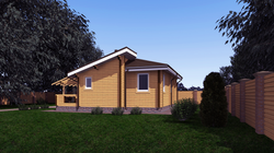 3Д проектирование деревянного дома