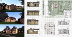 Архитектурный проект гостевого дома