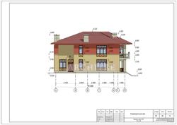 Эскизный проект дома. Фасад А-Ж.