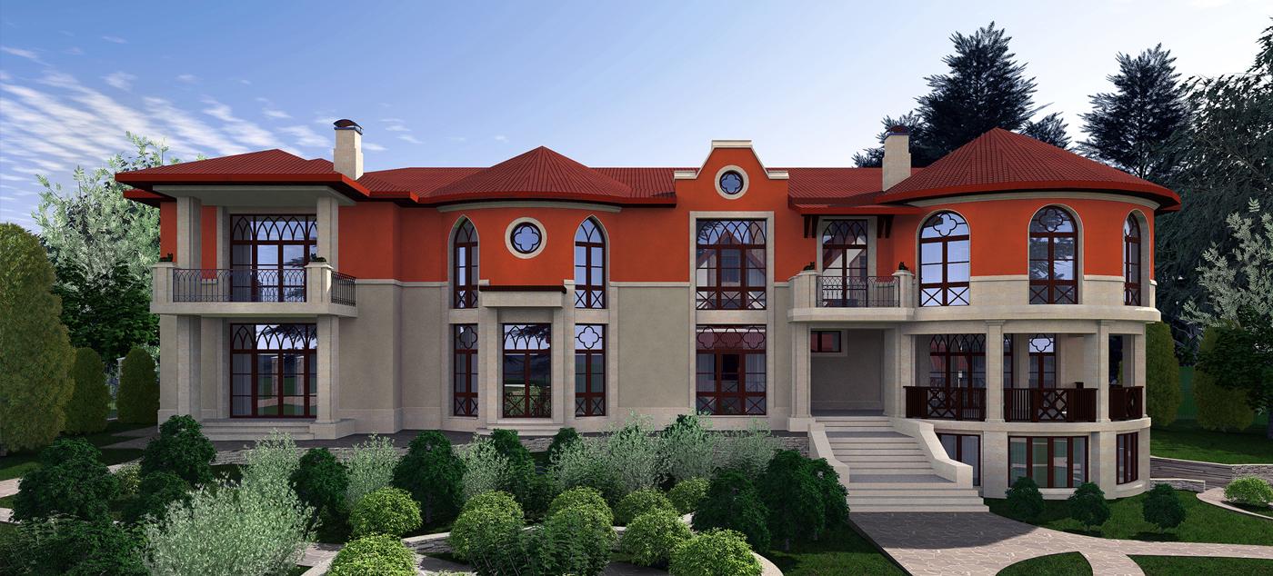 Проект особняка в готическом стиле