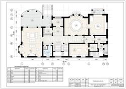 Эскизный проект дома. План 1 этажа.