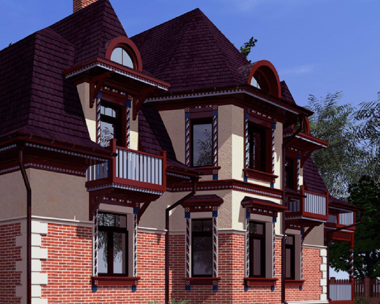 Проект дома в русском стиле