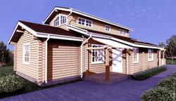 проект деревянного дома из бруса