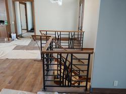 metal and wood railing